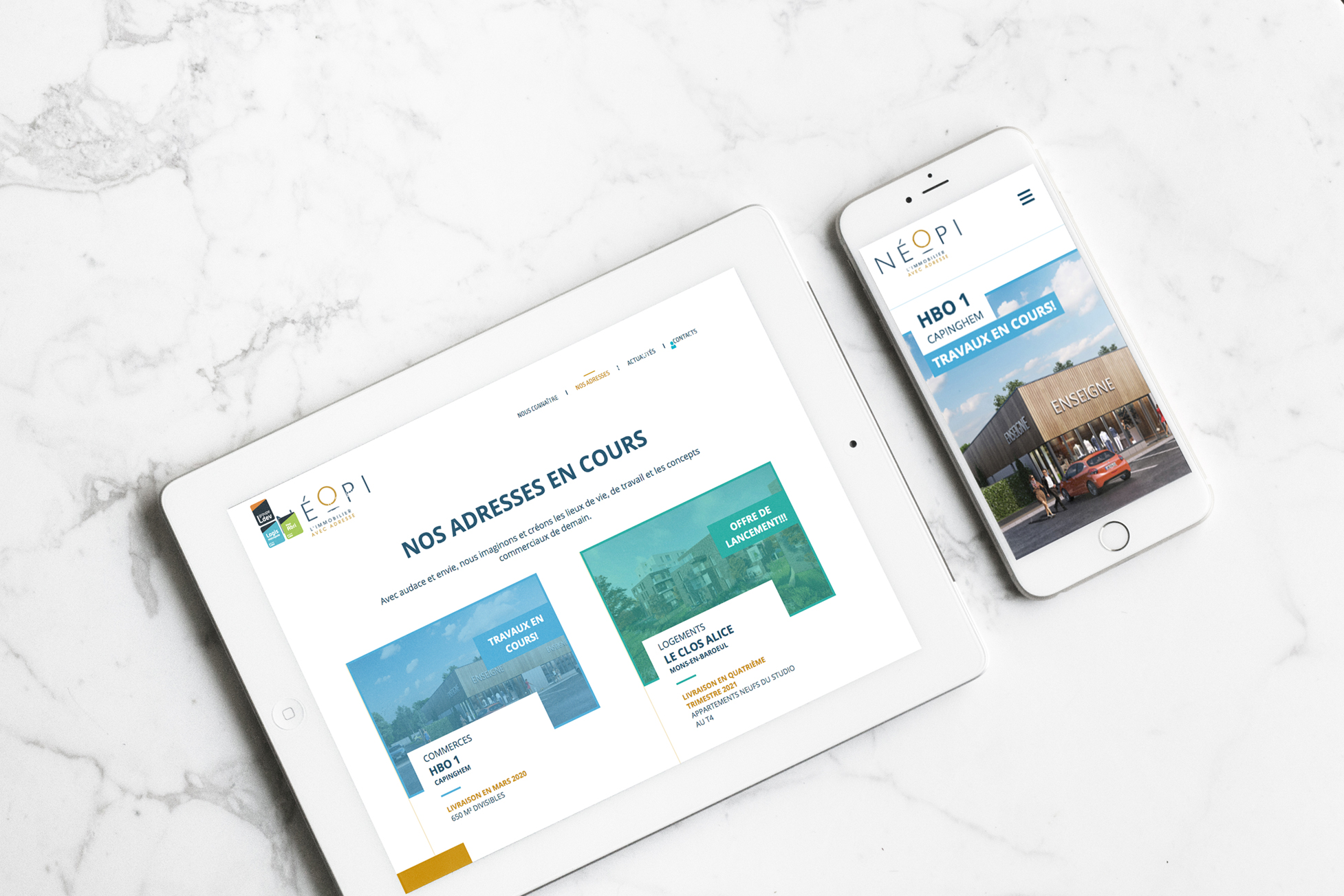 responsive design site internet immobilier nord